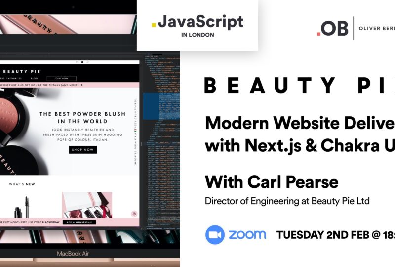 Modern Website Delivery with Next.js & Chakra UI @ Beauty Pie